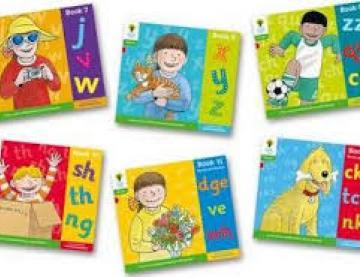Six book covers of Floppys Phonics titles