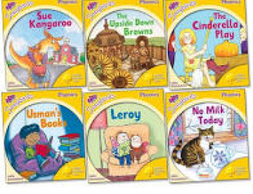 6 book covers of OUP Songbirds Phonics titles