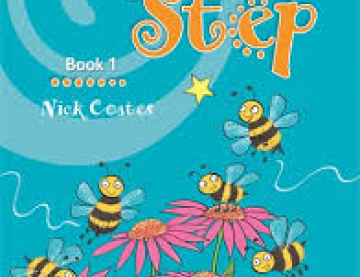 Book cover of Step by Step Book 1 with flowers and bees on the cover