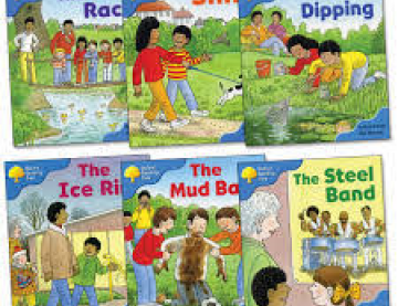 6 book covers of Biff, Chip and Kipper titles
