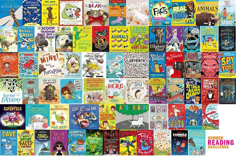 Summer Reading challenge - covers of lots of childrens books