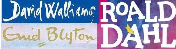 Authors autographs - Road Dahl, Enid Blyton and David Walliams