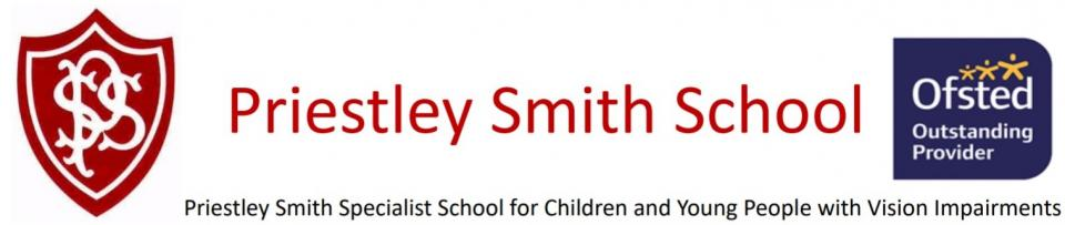 Priestely Smith Specialist school for Children and Young People with Vision Impairments logo