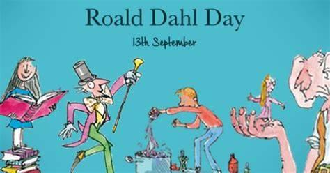 RoaldDahl Day 13th September. Quentin Blake illustrations of various characters from his books