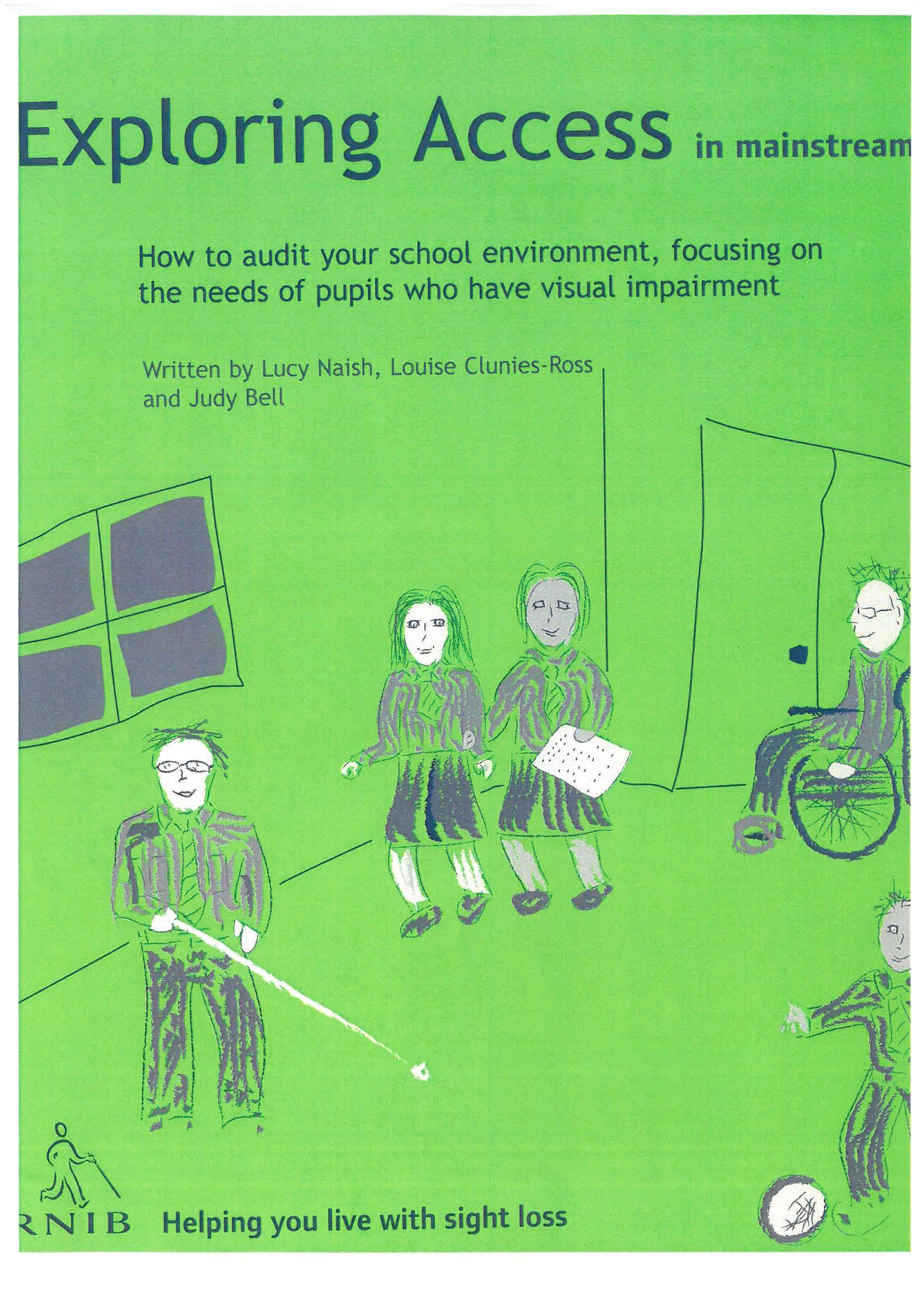 Book cover of RNIB's 'Exploring Access in the minstream' book