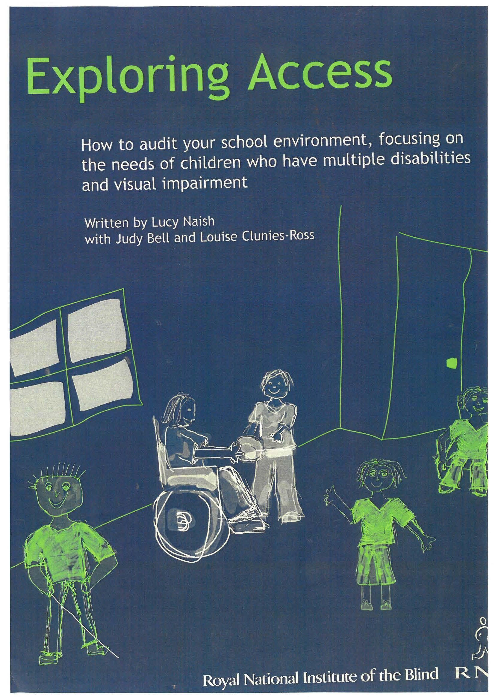 Book cover of RNIB's 'Exploring Access' book