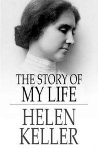 Helen Keller autobiaography 'This is my life' qith a photo of her as a young woman