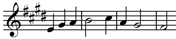 modified stave music
