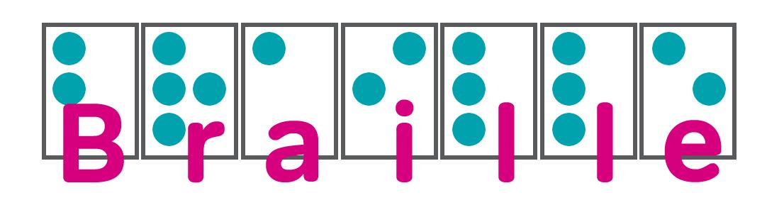RNIB braille banner